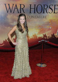 Celine Buckens attended the War Horse premiere in NYC.
