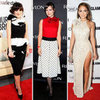 Celebrities Wearing Embellished Necklines Winter 2011