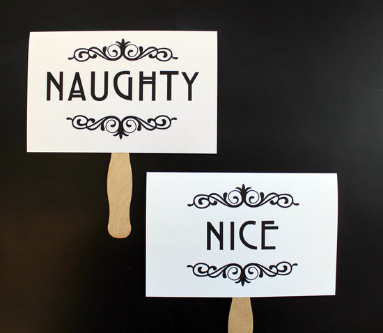 Naughty and Nice Photo Prop ($13)