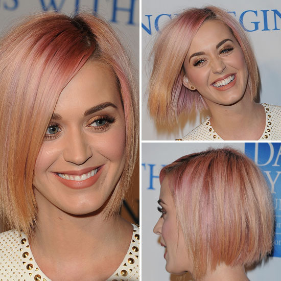 Peachy Keen: See Katy Perry's Sleek Bob From All Angles!
