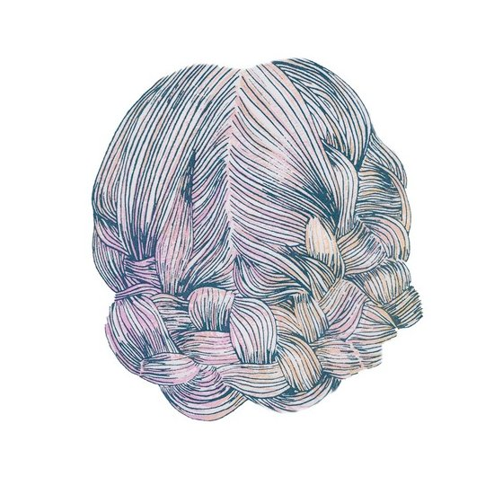 Australian design student Emily Green usually focuses on textiles, but her braided hair print demonstrates her drawing skill.