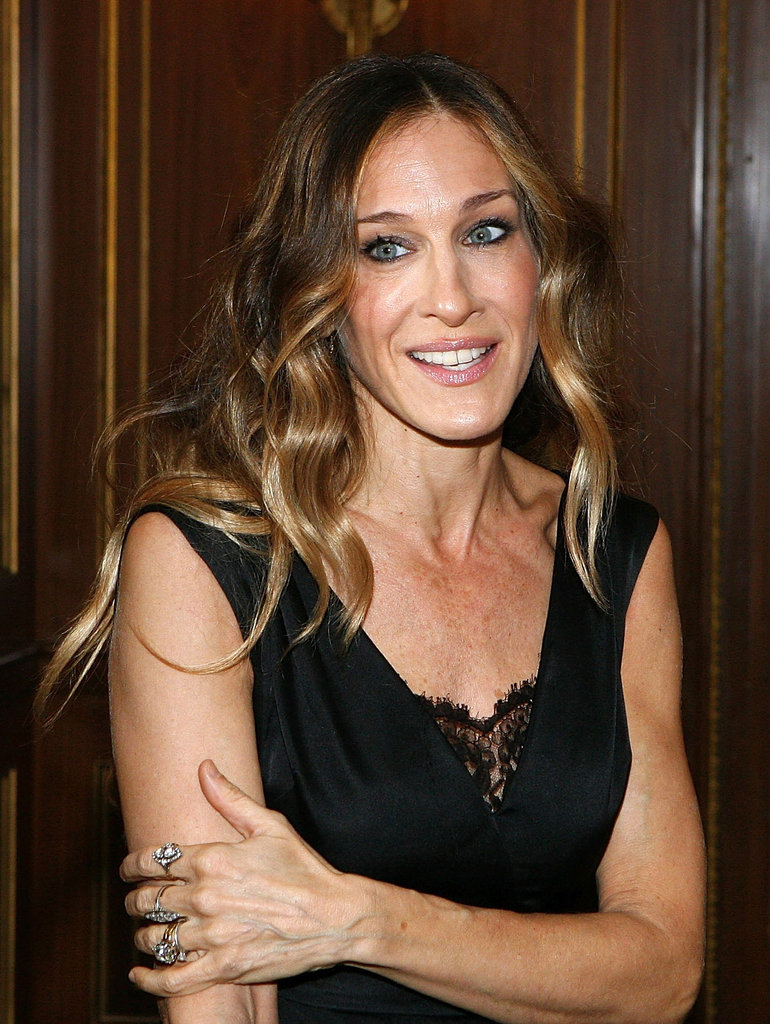 Sarah Jessica Parker wore a simple black dress.