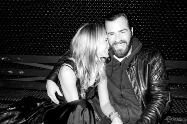 Jennifer and Justin posed for photographer Terry Richardson following a NYC dinner date in June 2011.  Photo courtesy Terry's Diary