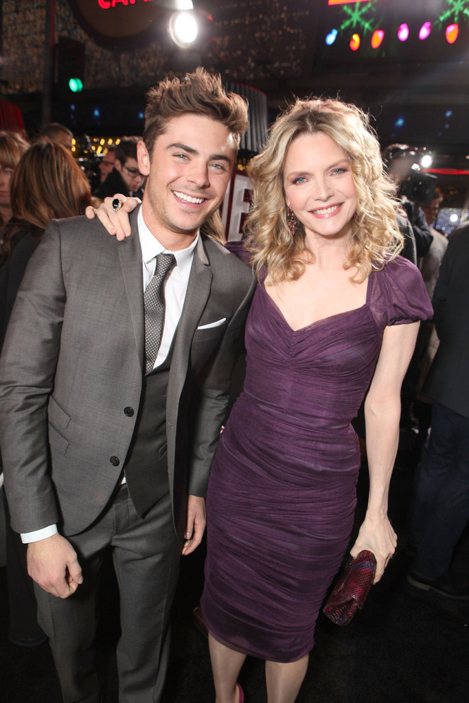 Michelle Pfeiffer put her arm around Zac Efron.