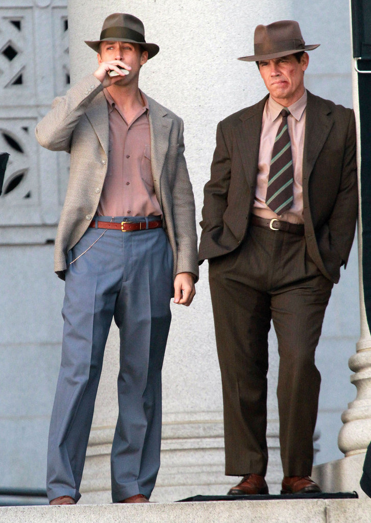 Ryan Gosling and Josh Brolin worked on Gangster Squad.