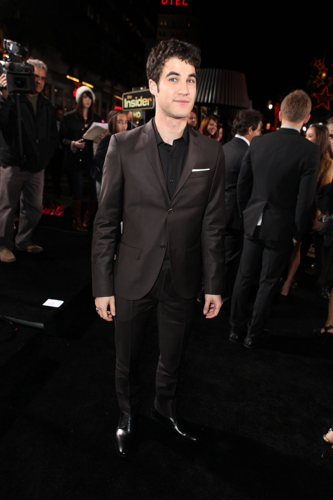 Darren Criss was in black for the premiere of New Year's Eve in LA.