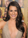 Lea Michele was glowing at the premiere of New Year's Eve.