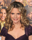 Michelle Pfeiffer was pretty in purple.
