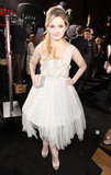 Abigail Breslin wore a white dress to a premiere in LA.