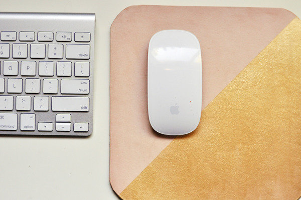 Gold leather mouse pad ($25)