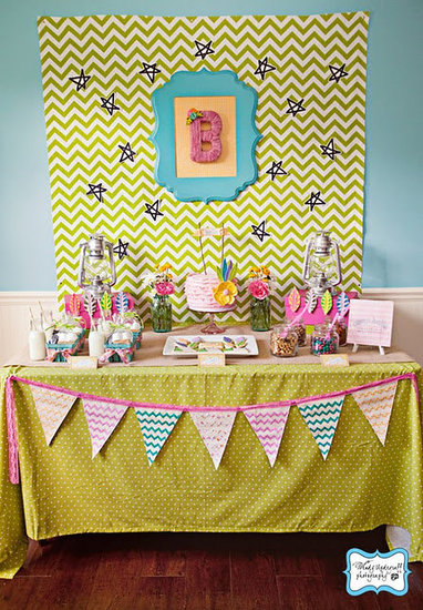 A Girlie Modern Dessert Table