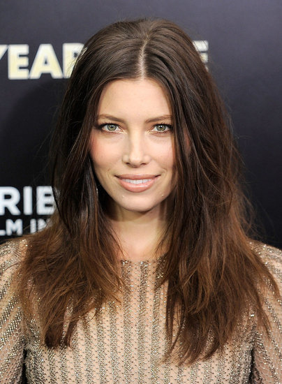 Jessica Biel's makeup looked flawless despite the rainy conditions in NYC.