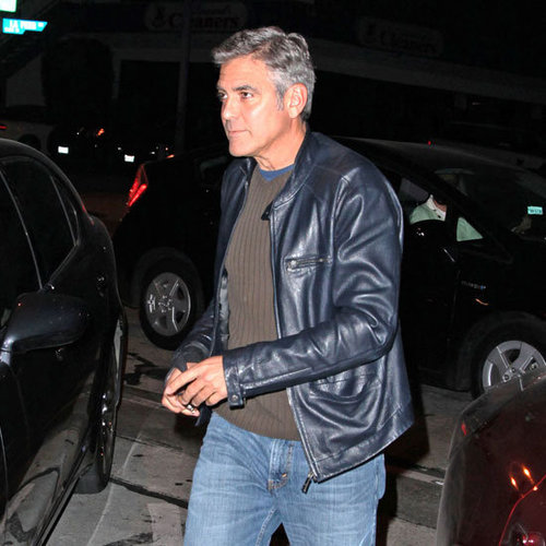 George Clooney and Stacy Keibler Holding Hands in LA