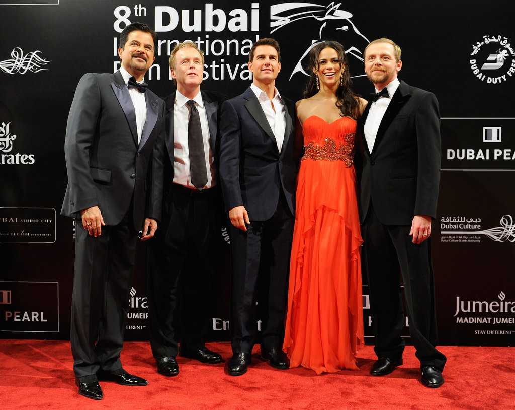 Anil Kapoor, Brad Bird, Tom Cruise, Paula Patton, and Simon Pegg attended Dubai's International Film Festival together.