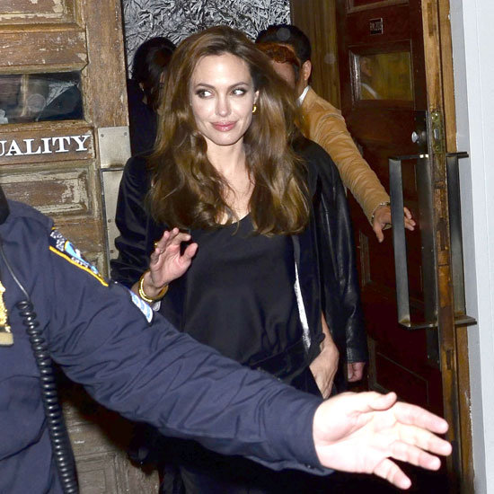 Angelina Jolie went to dinner in NYC.