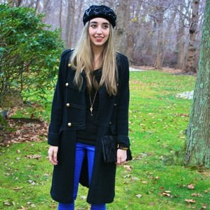 Blue Pants and Military Jackets Street Style