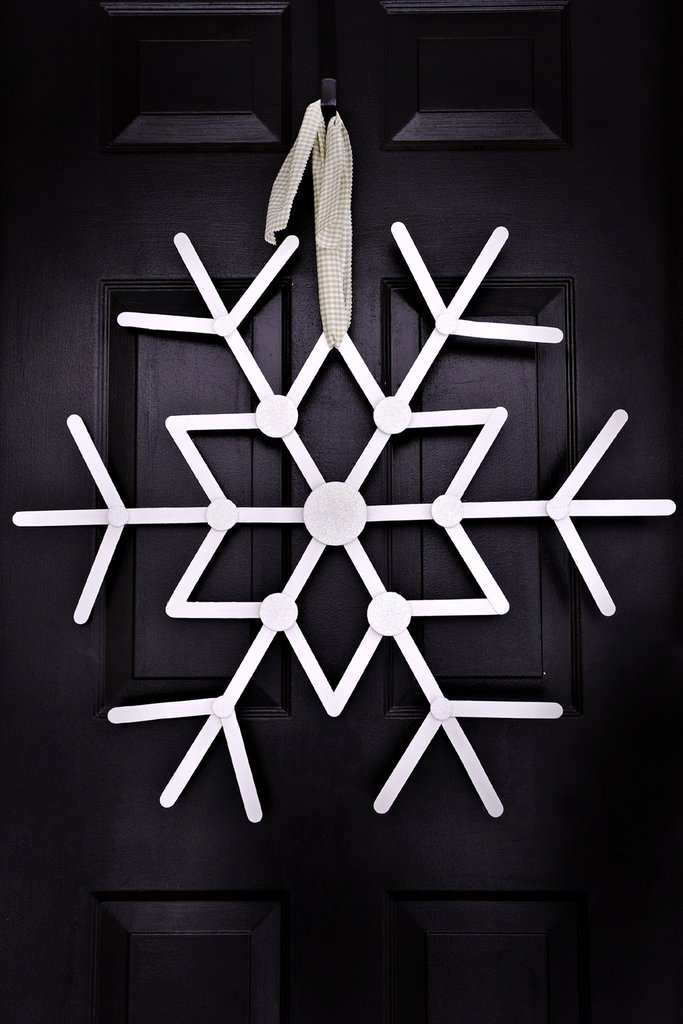 Hanging Craft Stick Snowflake
