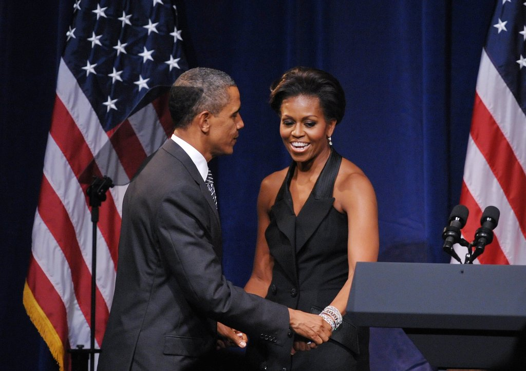 The first couple share a moment at a DNC fundraiser.
