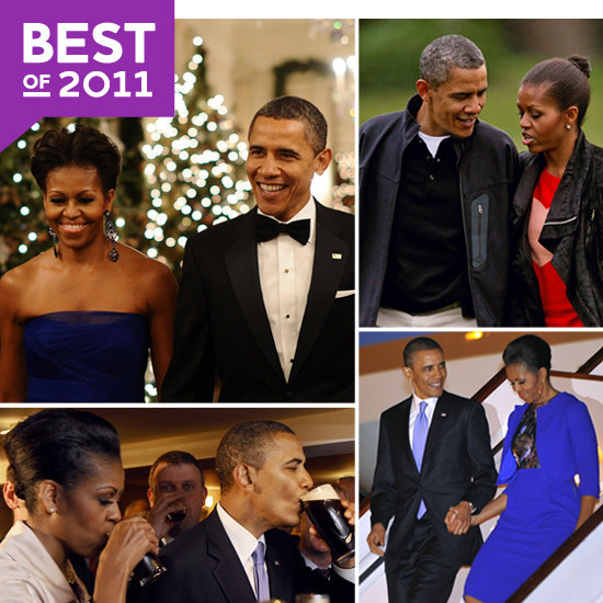 Michelle and Barack Obama's Cutest Couple Moments of 2011