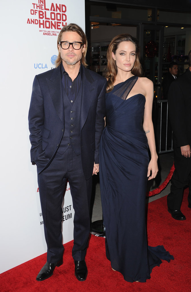 Angelina and Brad were hand-in-hand.
