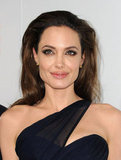 Angelina smiled at the LA premiere of In the Land of Blood and Honey.