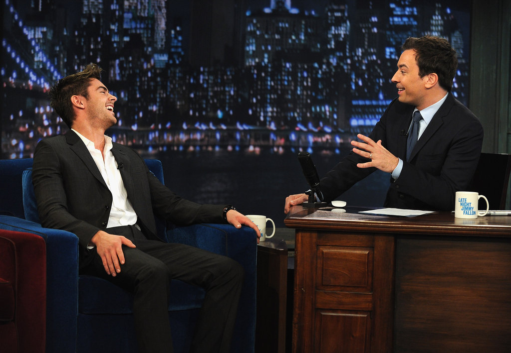 Jimmy Fallon dished with Zac Efron.