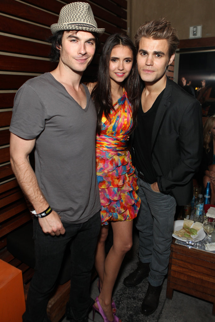 Ian Somerhalder, Nina Dobrev, and Paul Wesley found a little time to party during their July 2011 trip to Comic-Con in San Diego.