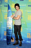 Ian Somerhalder joked around with a surfboard statue backstage at August 2011's Teen Choice Awards held at the Gibson Amphitheater in LA.