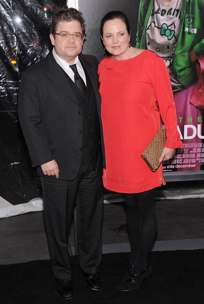 Patton Oswalt had his wife Michelle by his side.