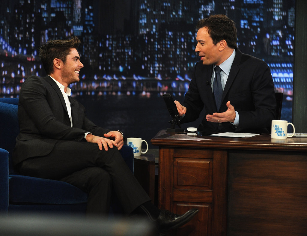 Zac Efron and Jimmy Fallon kept each other laughing.