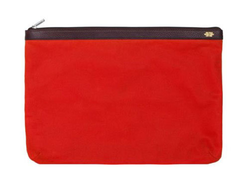 Jack Spade waxed cotton twill pouch ($95)