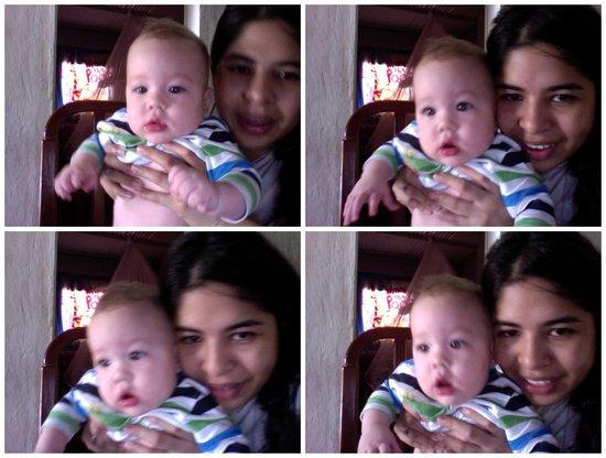 mi bebe lindo con su mami