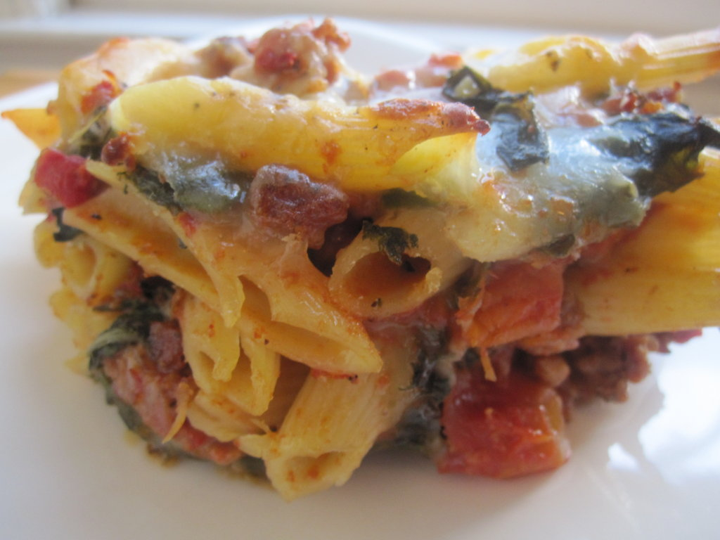 Baked Penne With Sausage and Chard