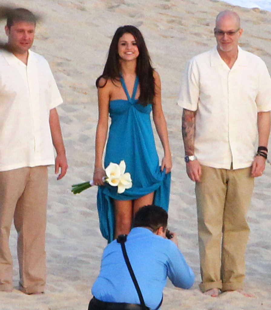 Selena Gomez was all smiles on her friend's wedding day.