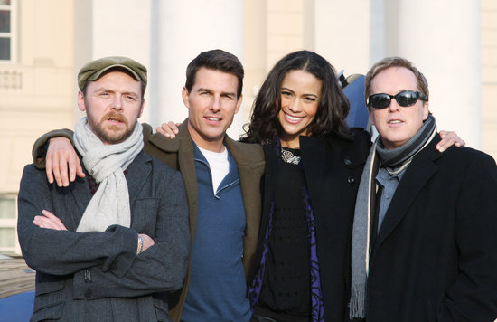 Simon Pegg, Tom Cruise, Paula Patton, and Brad Bird geared up for the Moscow premiere of Mission: Impossible – Ghost Protocol.