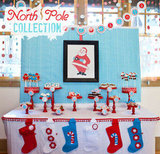 North Pole Christmas Dessert Table