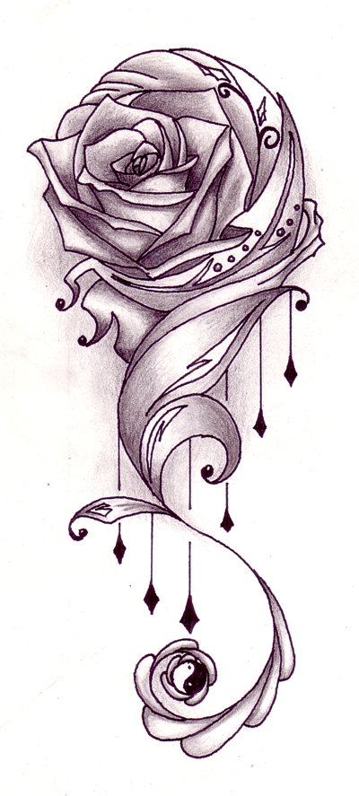 Rose tattoo designs 2