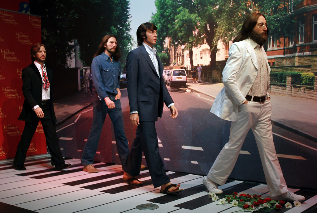 Wax figures of The Beatles are unveiled at Madame Tussauds in Hollywood.