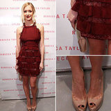 Pictures of Kristen Cavallari in Burgundy Dress at Rebecca Taylor Store Opening: Shop the Wine-Inspired Look!