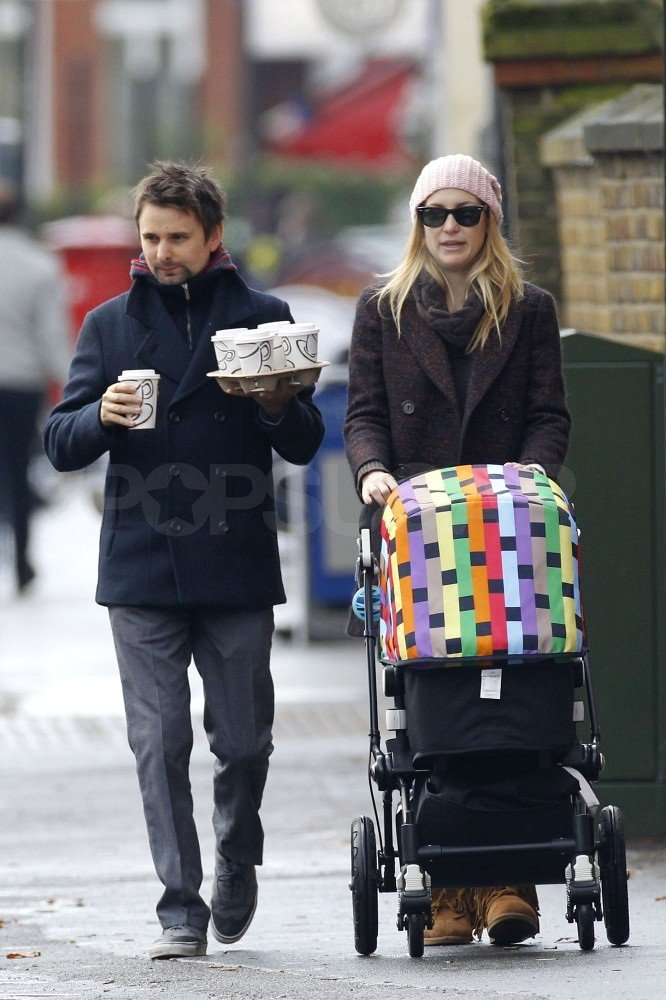 Kate pushed Bing's Missoni stroller.
