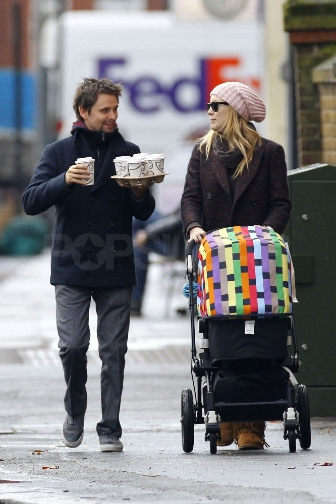 Matthew and Kate headed home following a casual breakfast.
