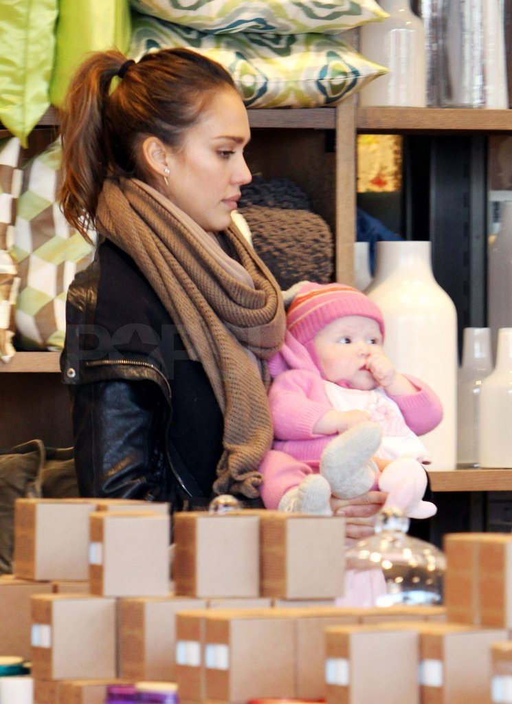 Jessica shopped at West Elm in LA.