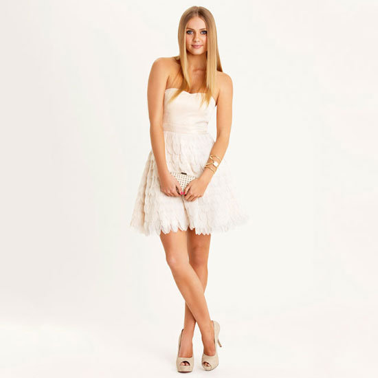 This petal-skirted number is the epitome of pretty. Harlow Petal Dress, $99.95, Dotti