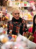 Gwen Stefani went shopping at Sanrio in LA.