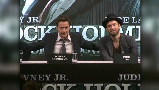 "Video: RDJ Reveals the Secret to His Chemistry With Jude — ""We Share a Bed!"""