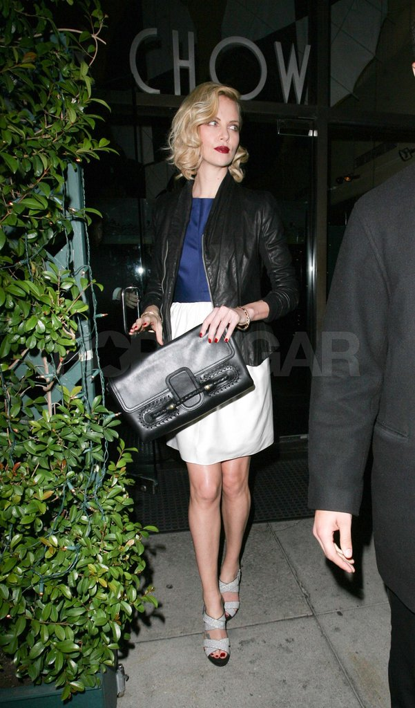 Charlize Theron out to dinner in LA.