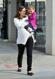 Jennifer Garner carried Seraphina Affleck around Santa Monica.