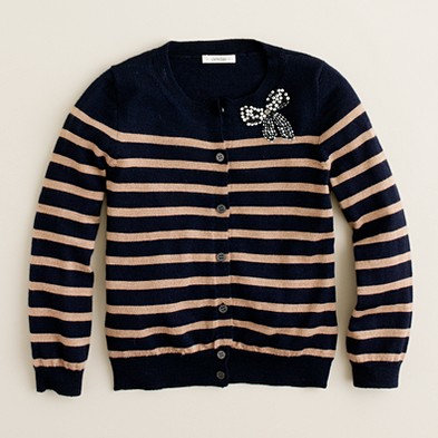 J.Crew Brilliant Bow Cardigan ($65)
