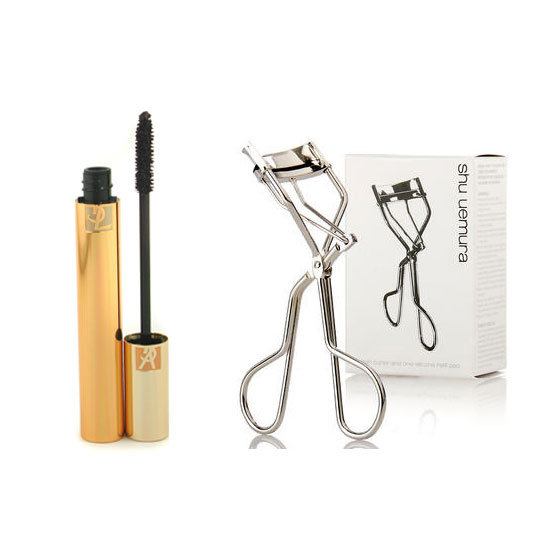Yves Saint Laurent Mascara Volume Effet Faux Cils, $52 and Shu Uemura Eyelash Curler, $40