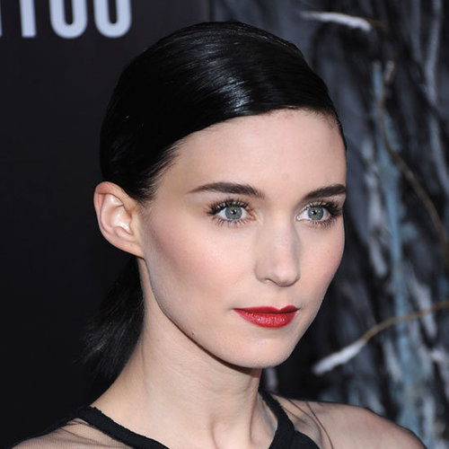 Rooney Mara's Red Lipstick Look